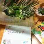 画像:実習生・スタッフからのプレゼント