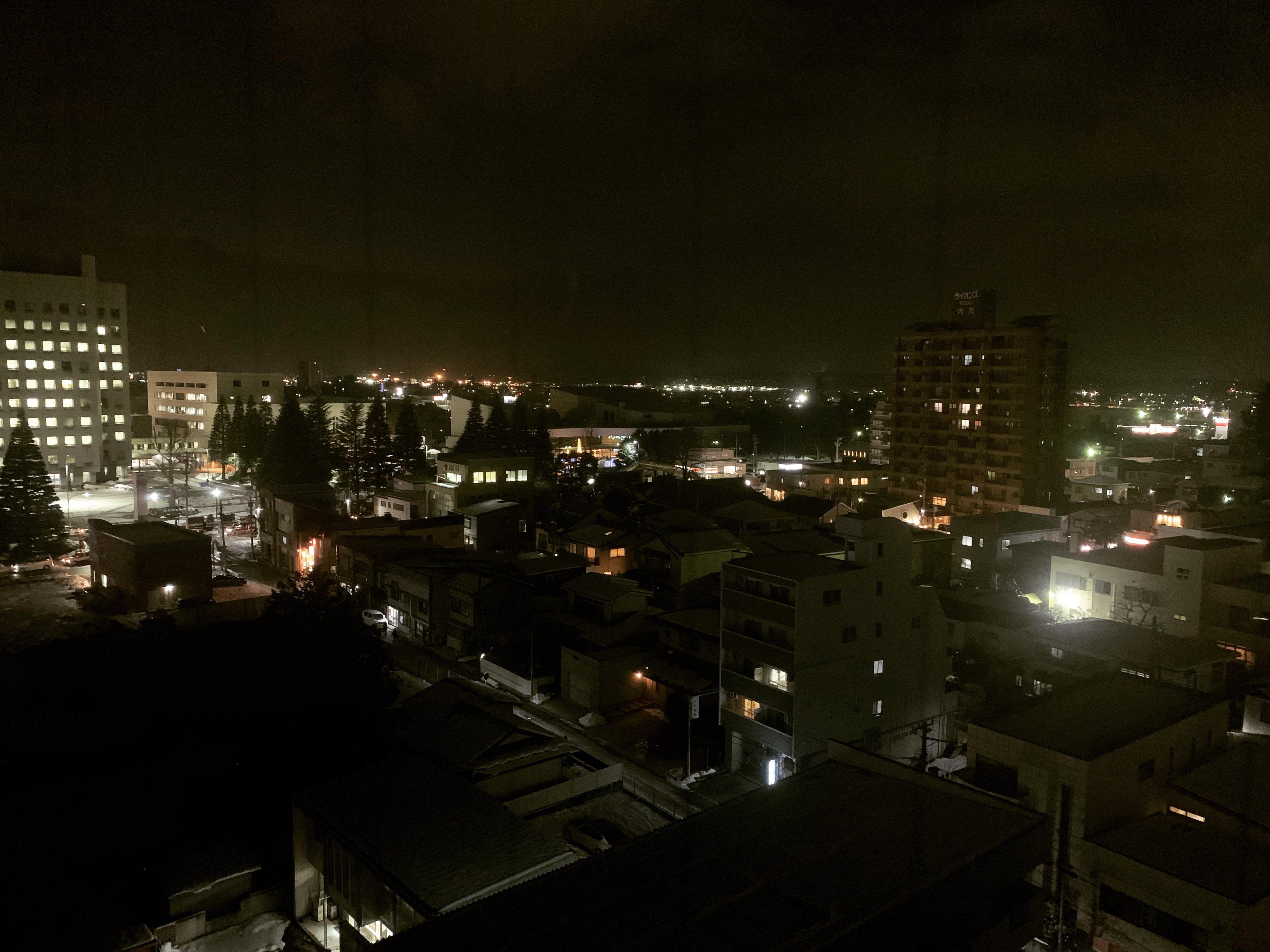 八戸市の夜景